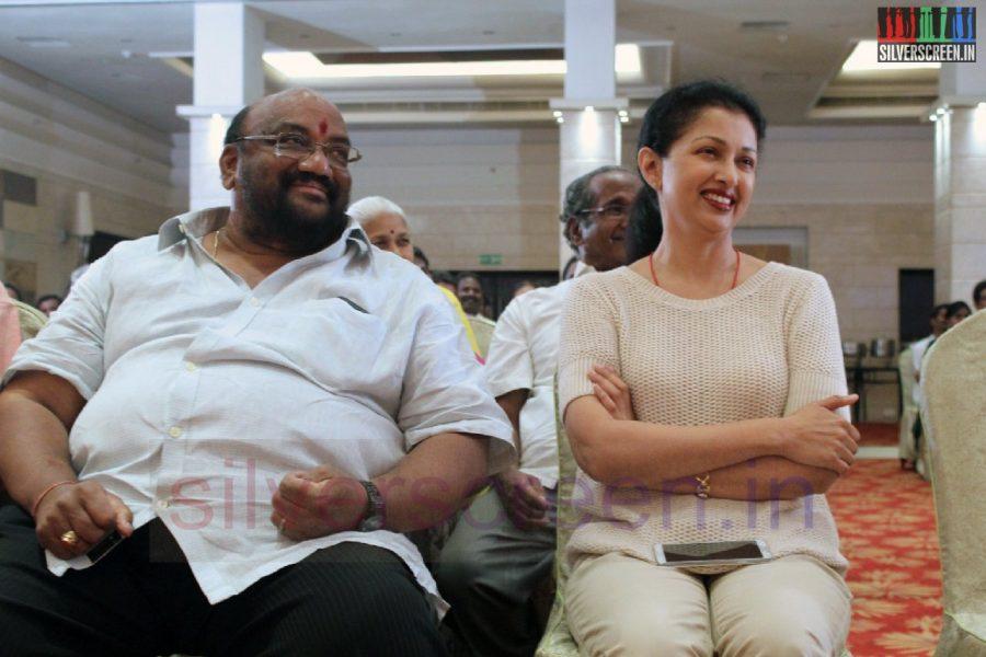 Actor Santhana Bharathi and Actress Gouthami in Director RC Sakthi Birthday Celebration Stills