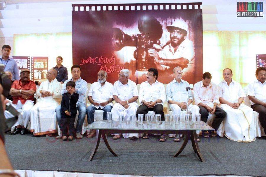 Actor Kamal Haasan, Charuhasan, Director Keyaar and TP Gajendran in Director RC Sakthi Birthday Celebration Stills