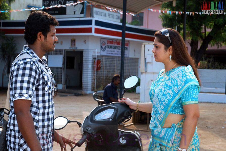 Actor Mahesh and Actress Yuvarani in IIravum Pagalum Varum Movie Stills