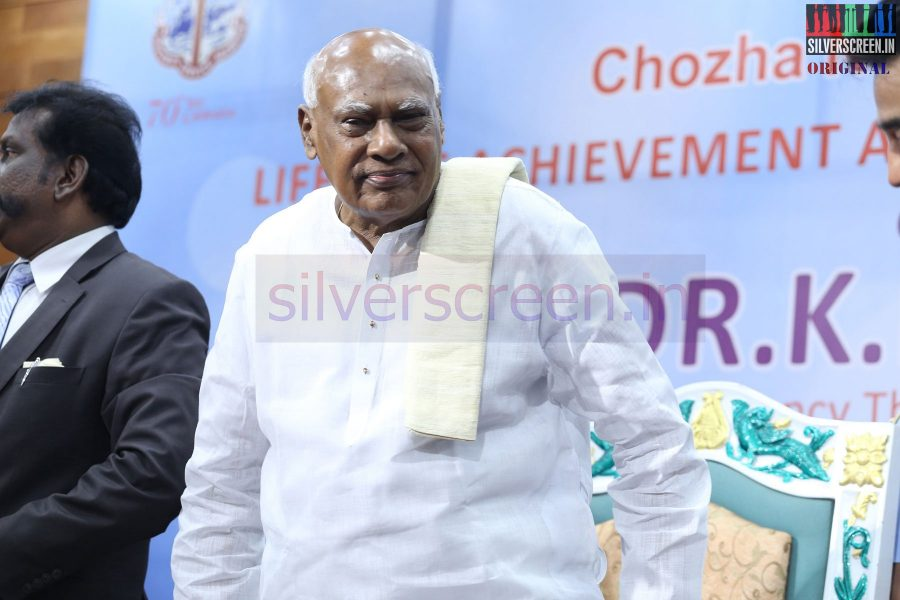 Tamil Nadu Governor Dr. K. Rosaiah at the event by The Chambers of Commerce Honoring Life Time Achievement Award to Actor Kamal Haasan