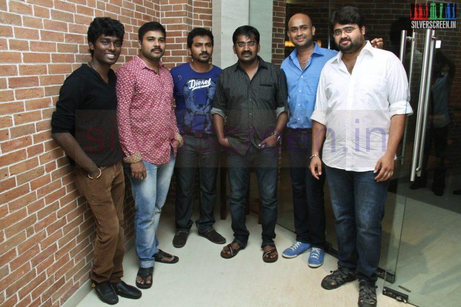 Director Atlee, Karthik G Krish, Actor Karunakaran and Vaibhav at Kappal Dinner with Stars Contest Stills