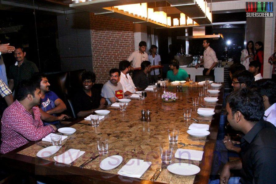 Director Atlee, Karthik G Krish, Actor Kreshna, Vaibhav and Premgi Amaren at Kappal Dinner with Stars Contest Stills
