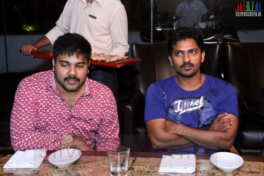 Director Karthik G Krish and Actor Vaibhav at Kappal Dinner with Stars Contest Stills