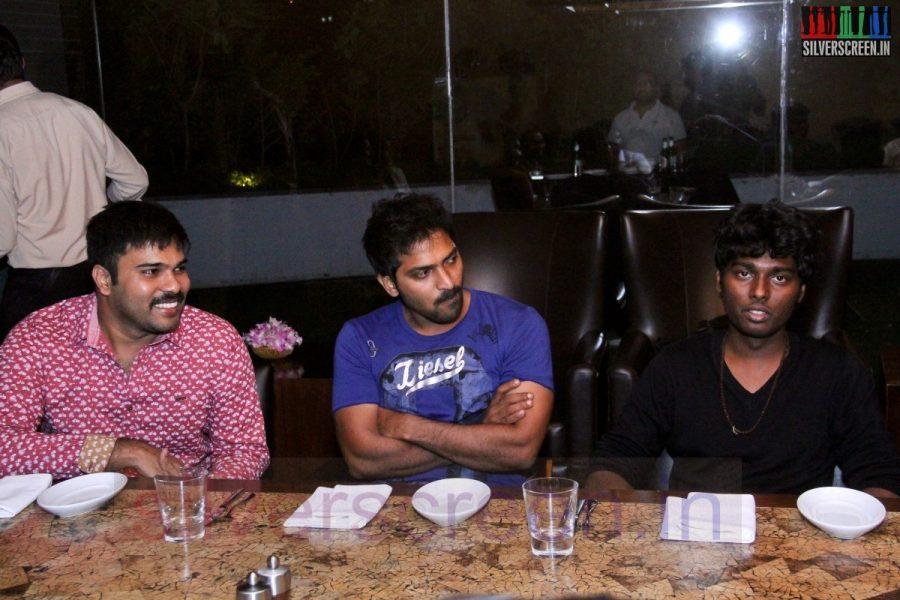 Director Atlee, Karthik G Krish and Actor Vaibhav at Kappal Dinner with Stars Contest Stills