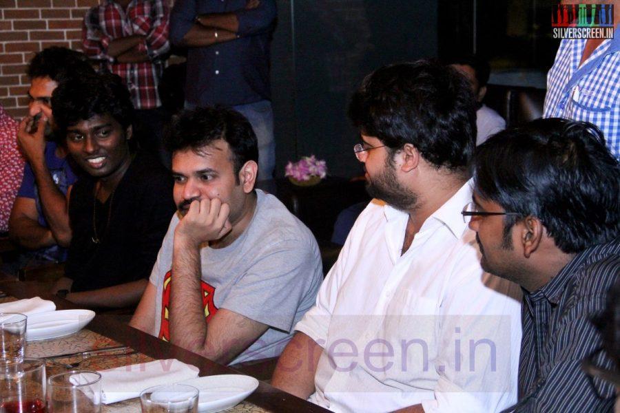 Director Atlee, Actor Karunakaran and Premgi Amaren at Kappal Dinner with Stars Contest Stills