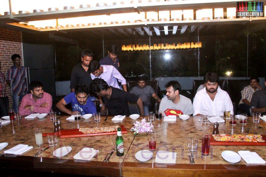 Director Atlee, Karthik G Krish, Actor Kreshna, Vaibhav, Karunakaran and Premgi Amaren at Kappal Dinner with Stars Contest Stills