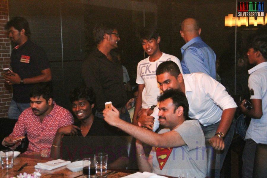 Director Atlee, Karthik G Krish and Actor Premgi Amaren at Kappal Dinner with Stars Contest Stills