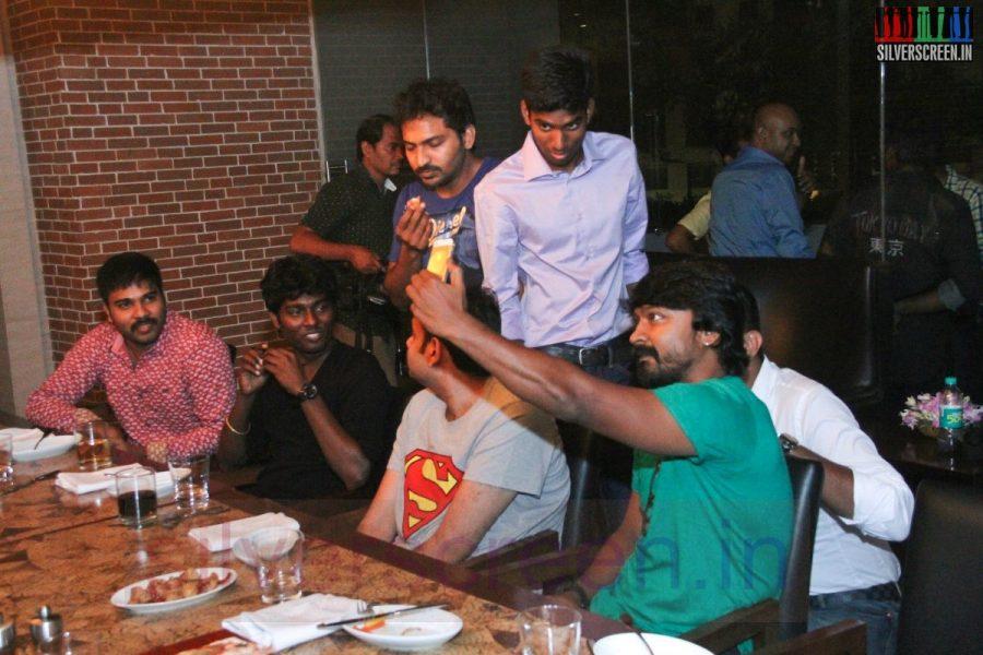 Director Atlee, Karthik G Krish, Actor Premgi Amaren, Vaibhav and Kreshna at Kappal Dinner with Stars Contest Stills