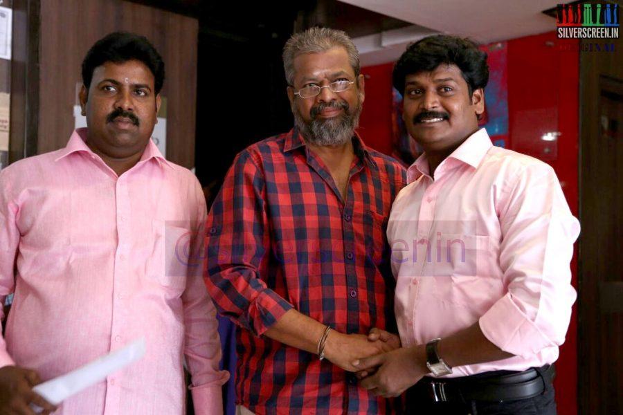 Director Aravindraj and Actor Muthuram at the Manam Konda Kadhal Audio Launch