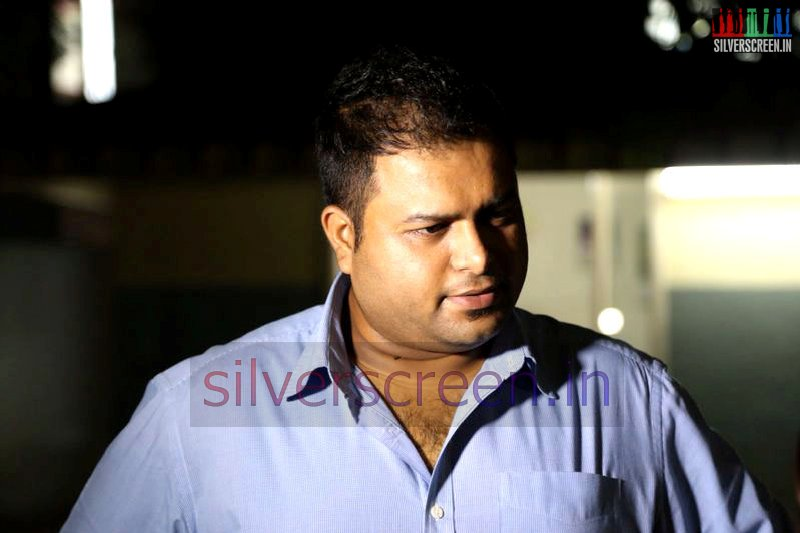Music Director S Thaman at the Meagamann Press Meet