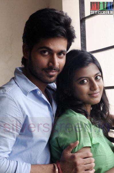 Actor Harish Kalyan and Actress Anandhi in Poriyaalan Movie Stills