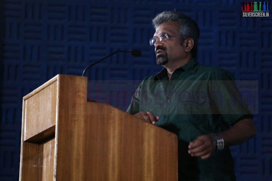 Producer T Siva at Poriyaalan Press Meet Stills