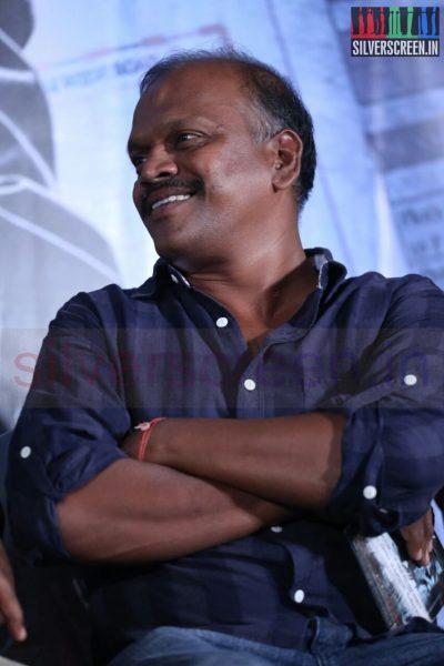 Cinematographer R Velraj at Poriyaalan Press Meet Stills