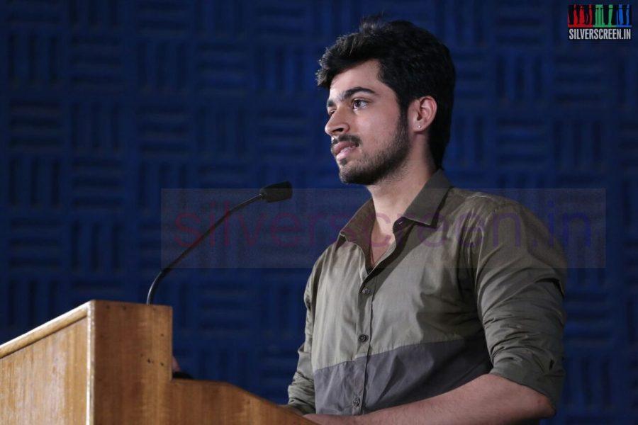 Actor Harish Kalyan at Poriyaalan Press Meet Stills