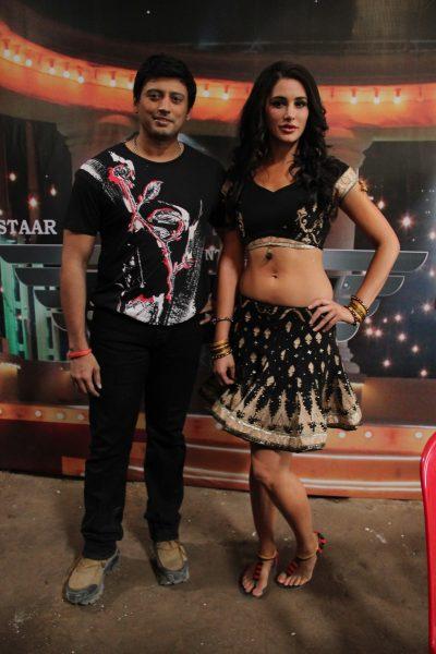Actor Prashanth and Actress Nargis Fakhri in Saahasam Movie Press Meet Stills