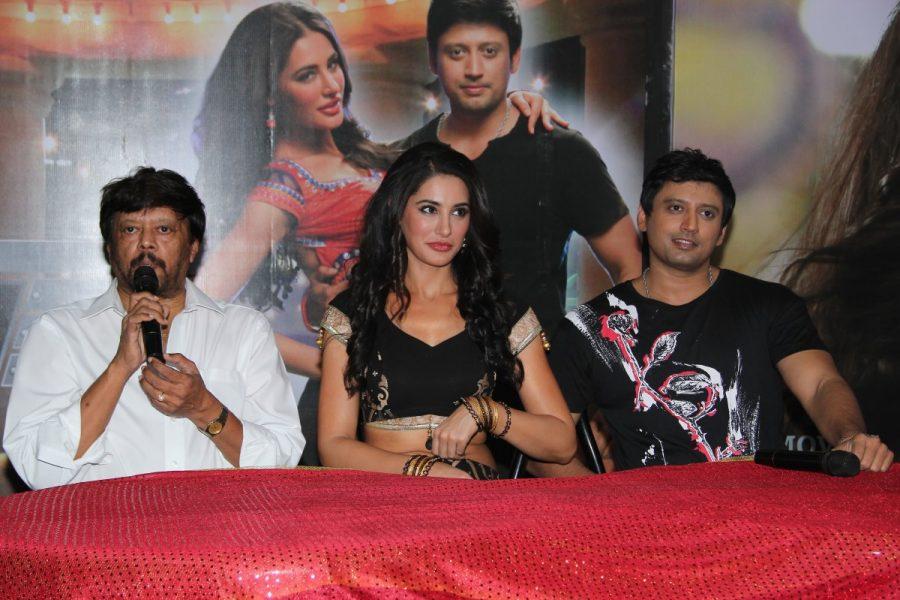 Actor Prashanth, Thiyagarajan and Actress Nargis Fakhri in Saahasam Movie Press Meet Stills