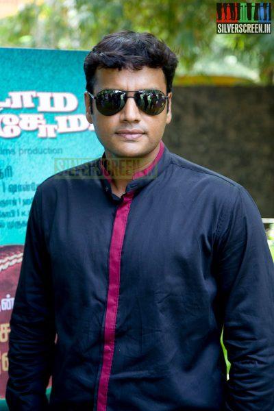 Actor Balaji Venugopal at the Aadama Jaichomada Movie Press Meet