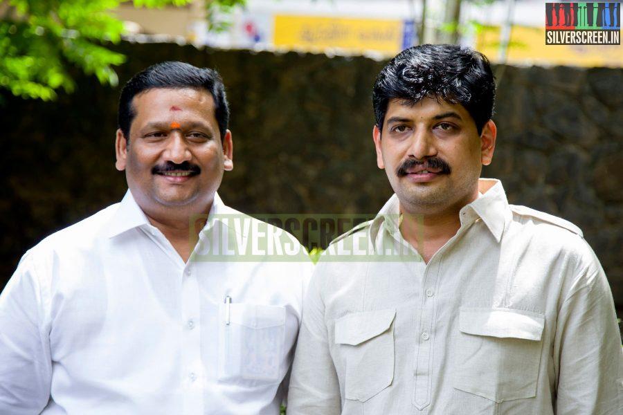 Producers P Madhusudhanan and Sudhir Jain at the Aadama Jaichomada Movie Press Meet