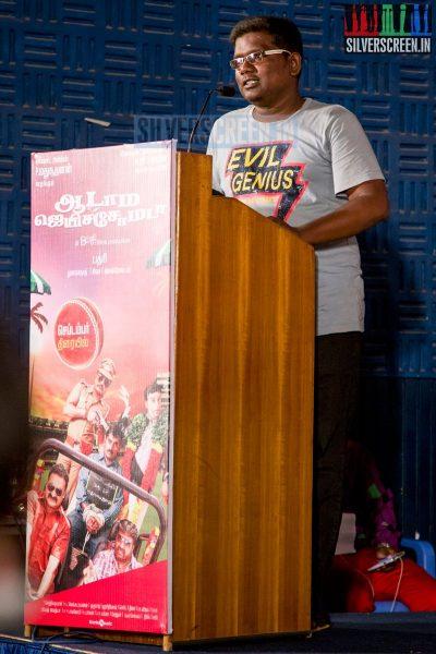 Lyricist GKB at the Aadama Jaichomada Movie Press Meet