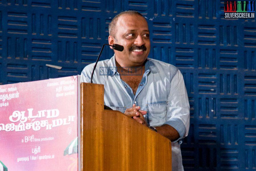 Actor Chetan at the Aadama Jaichomada Press Meet
