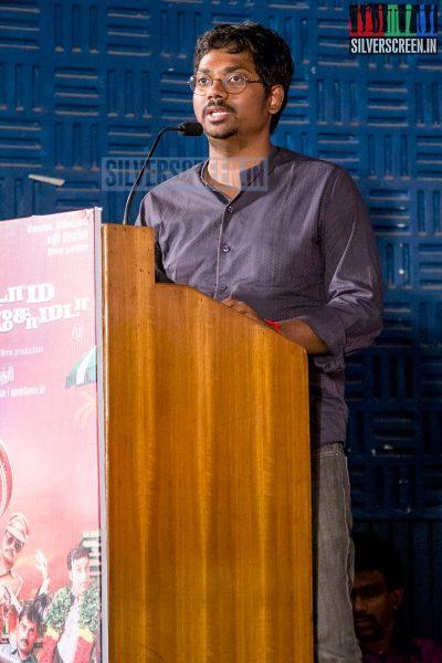 Music Director Sean Roldan at the Aadama Jaichomada Movie Press Meet