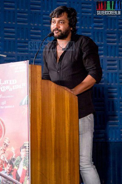 Actor Bobby Simha at the Aadama Jaichomada Movie Press Meet