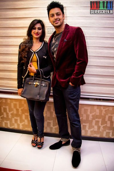 Actor Srikanth and wife Vandana at the Toni and Guy Essensuals Launch in Valasaravakkam