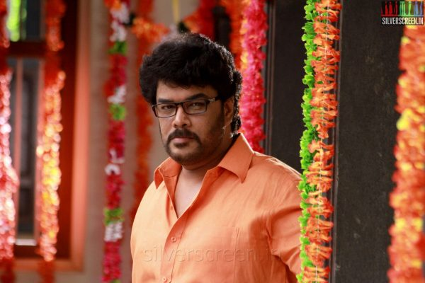 Director Actor C Sundar in Aranmanai Movie Stills