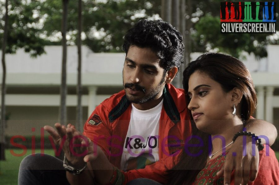 Actress Dimple Chopade and Actor Gajesh (Or Grandson of Nagesh) in Kalkandu Movie Stills