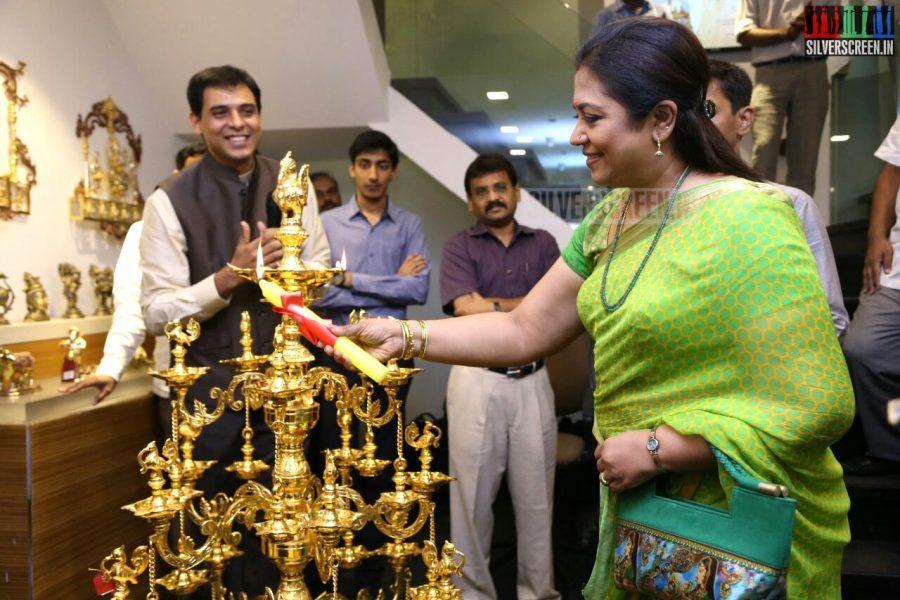 Poornima Bhagyaraj at the Mantra Showroom Launch Photos