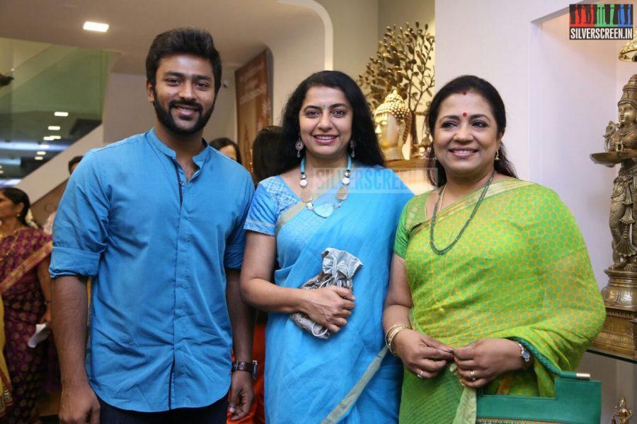 Poornima Bhagyaraj; Shanthanu Bhagyaraj; Suhasini Mani Ratnam at the Mantra Showroom Launch Photos