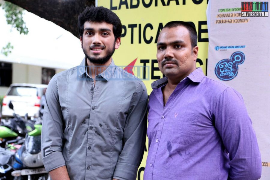 Director Balaji Tharaneetharan, Actor Kalidas at the Oru Pakka Kathai Movie Press Meet