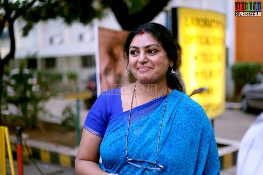 Actress Sriranjini at the Vanmam Press Meet