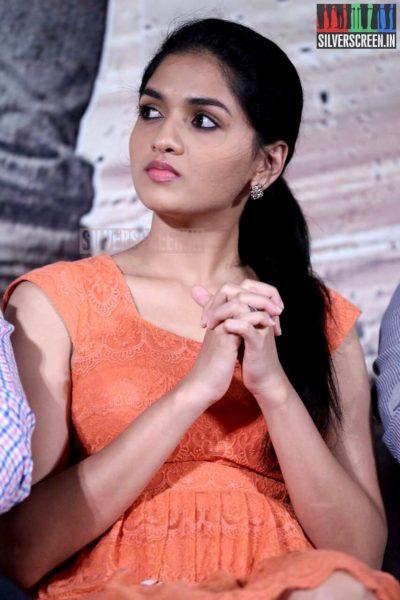 Actress Sunaina at the Vanmam Press Meet