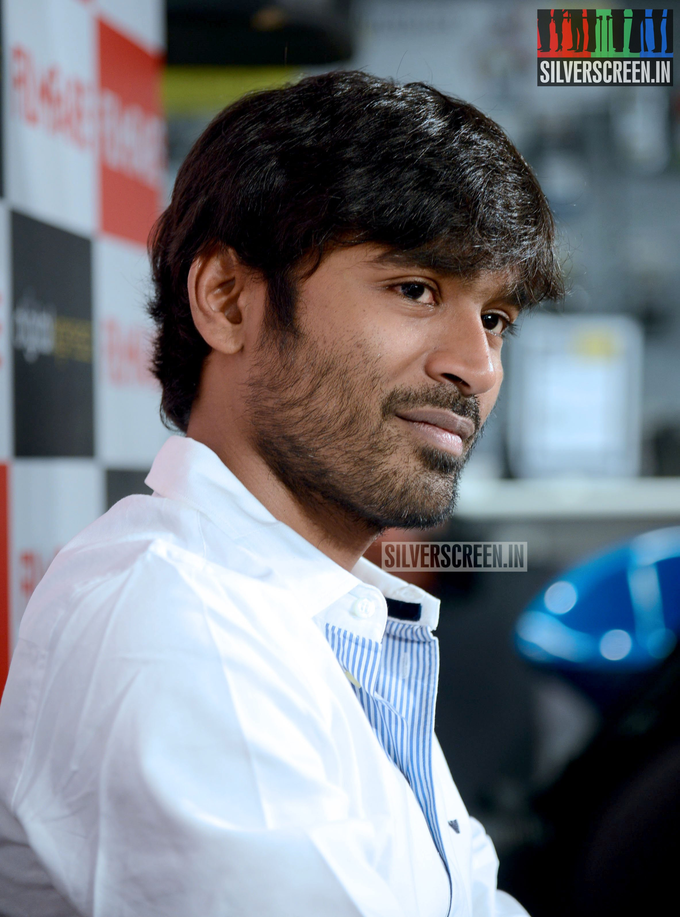dhanush at the filmfare meet and greet stills | silverscreen.in