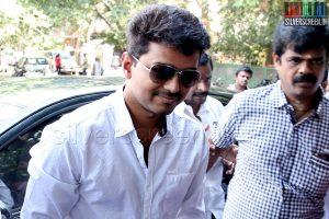 Actor Vijay votes in Lok Sabha Elections 2014
