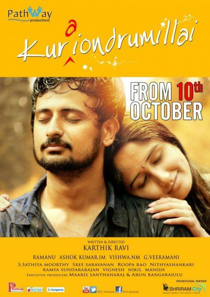 Actor Geethan Britto and Actress Haritha Parokod in Kurai Ondrum Illai Movie Posters