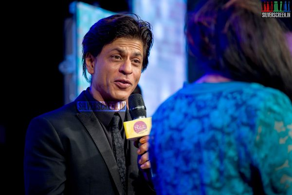 Actor Shahrukh Khan at Happy New Year Promo with Palam Silks