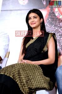Actress Shruti Haasan at the Poojai Press Meet