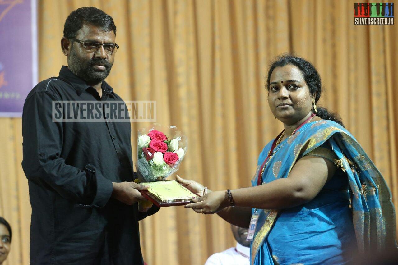 poojai movie press meet saritha