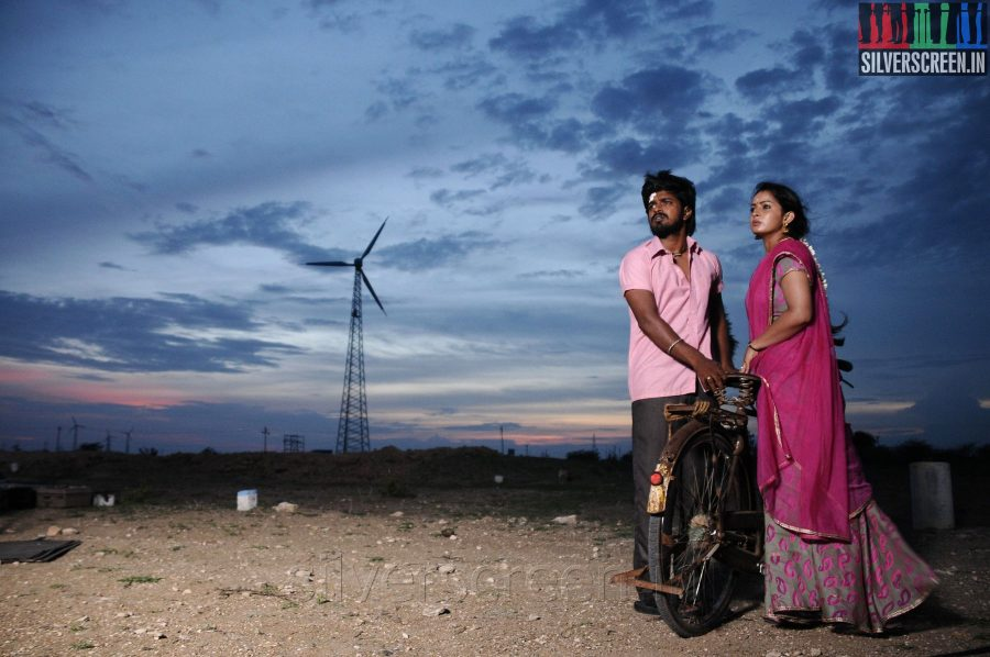Actress Anusha and Praveen Kumar in the Appuchi Gramam Movie Stills