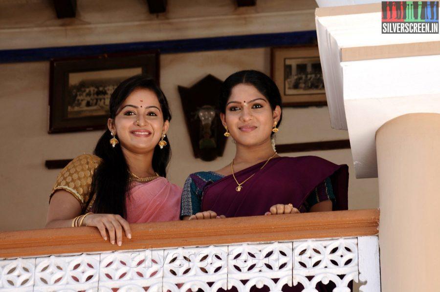 Actress Anusha and Swasika in the Appuchi Gramam Movie Stills