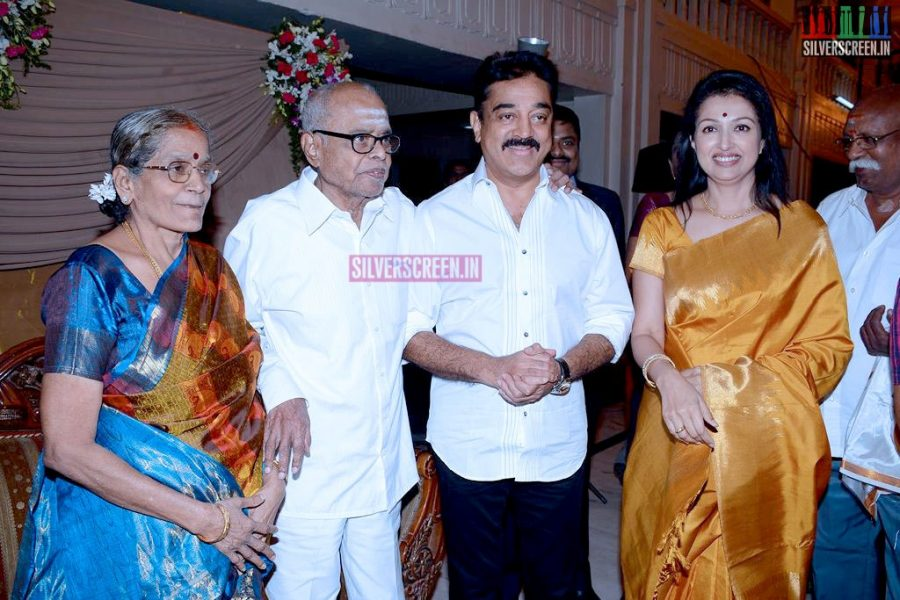 Director K Balachanders Grand Daughter Wedding Reception Silverscreenin