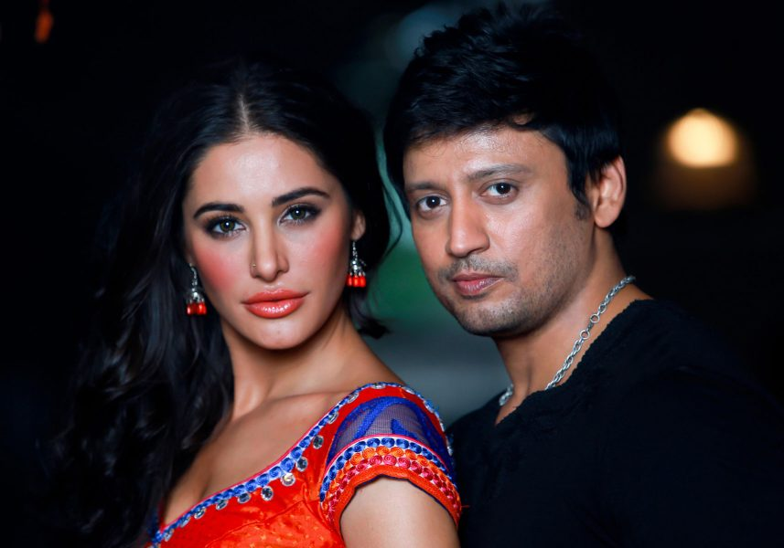 Actor Prashanth and Actress Nargis Fakhri in Saahasam Movie Shooting Spot Stills