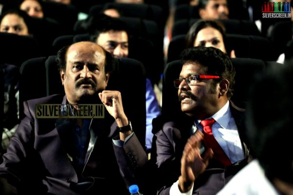 KS Ravikumar and Rajinikanth at the Lingaa Movie Audio Launch
