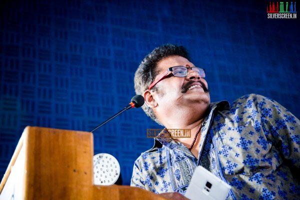 KS Ravikumar at the Sandamarutham Audio Launch Event