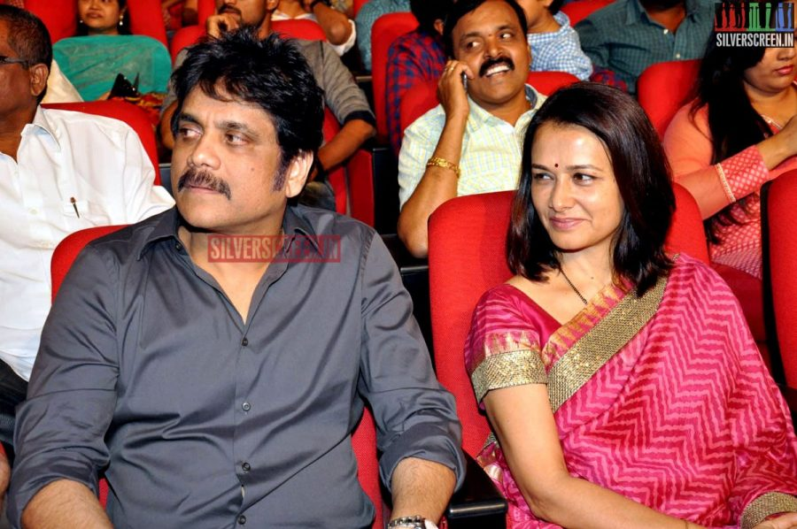 Nagarjuna and Amala Akkineni at Actor Akhil Akkineni Debut Movie Launch
