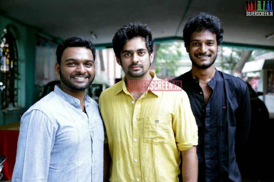 Actor Sharankumar and Siddharth Mohan at Charles Shafiq Karthiga (CSK) Movie Audio Launch Photos