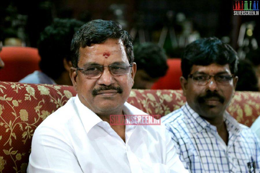 Kalaipuli S Thanu at Charles Shafiq Karthiga (CSK) Movie Audio Launch Photos