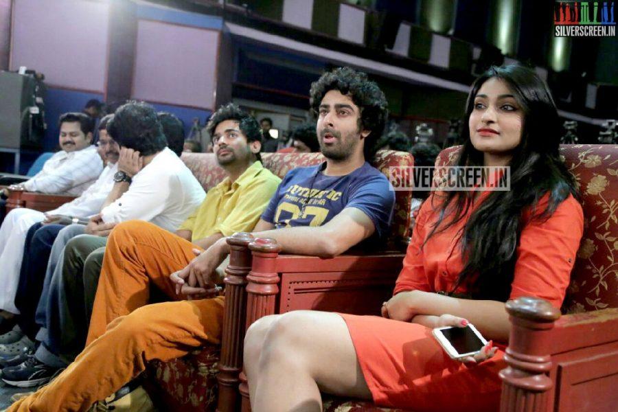Actress Jai Quehaeni and Actor Narayan at Charles Shafiq Karthiga (CSK) Movie Audio Launch Photos
